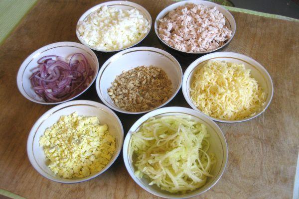 пригототовление салата