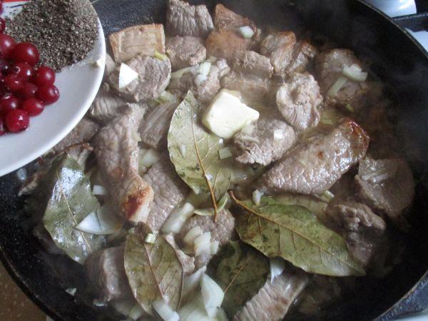 клюква и мясо