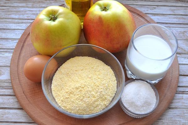 ингредиенты для яблок в кляре