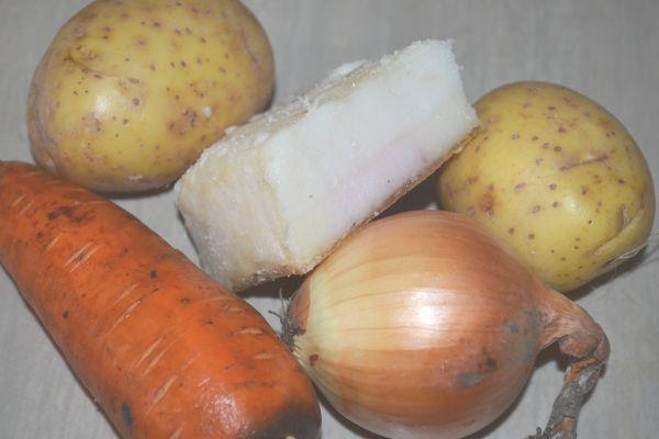 сало и овощи