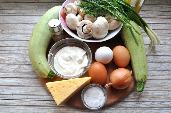 ингредиенты для запеканки из кабачков