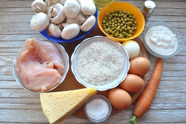 ингредиенты для рисовой запеканки