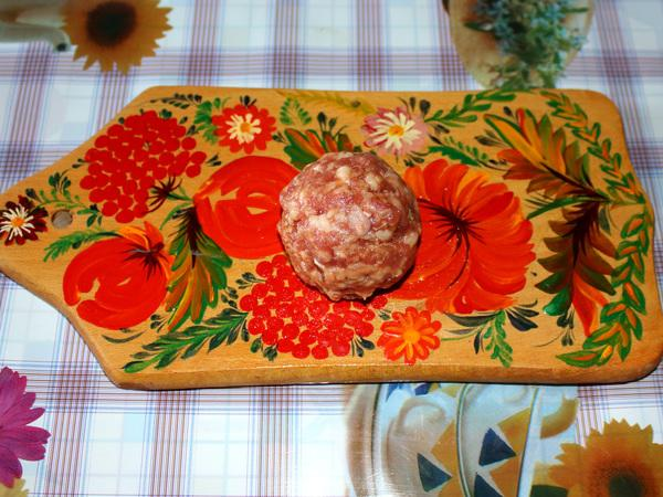 мясной клубочек из фарша