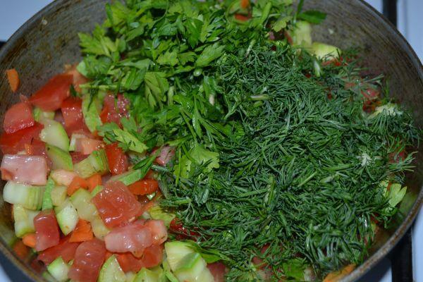 зелень с овошами