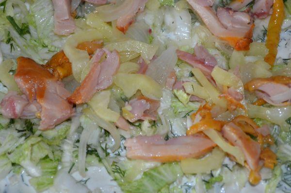 курица с салатом на лаваше