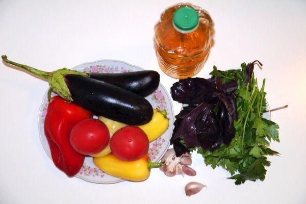 ингредиенты для салата аджапсандал