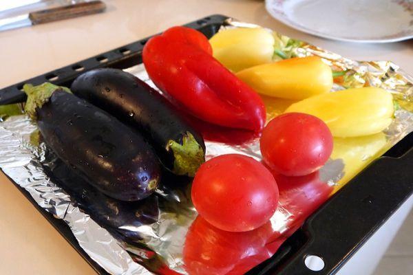 овощи на противне