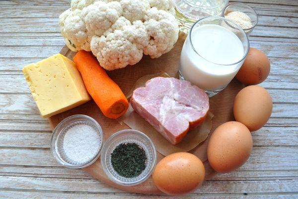 ингредиенты для капустной запеканки