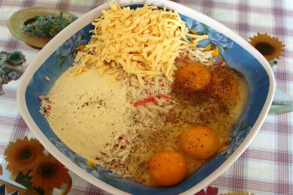 приготовление котлет из крабовых палочек с сыром