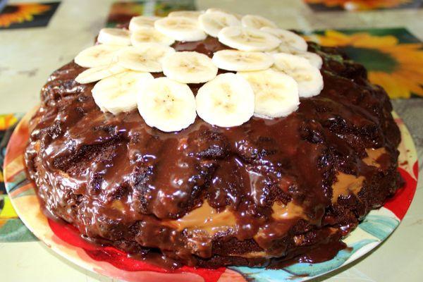 """торт """"Прага"""" с бананами"""