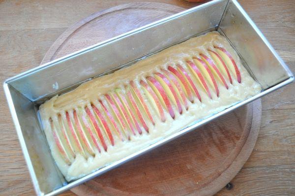 приготовление яблочного кекса