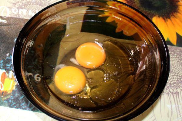 растительное масло с яйцами
