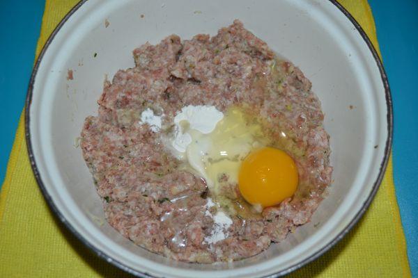фарш с яйцом