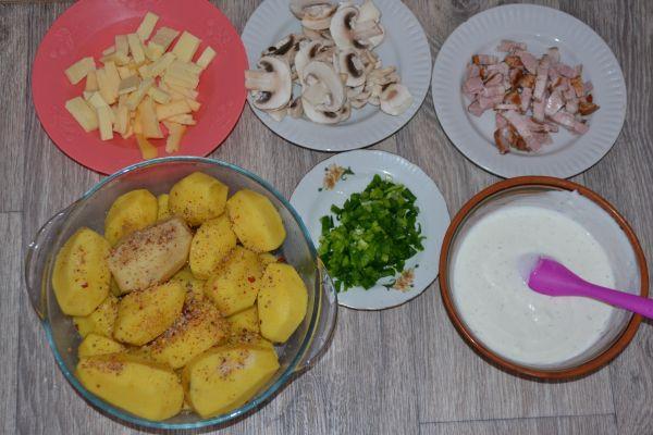 ингредиенты для картошки-гармошки