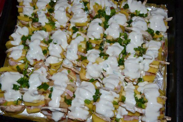 картошка-гармошка с майонезом