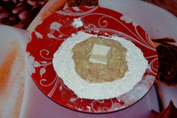 заготовка котлеты с сыром