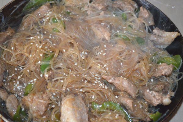 приготовление фунчозы с мясом и овощами