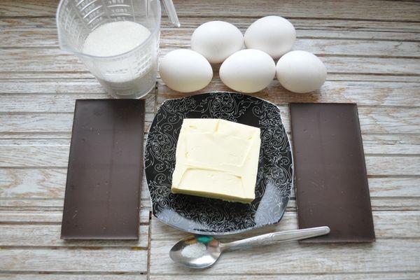 ингредиенты для домашнего шоколадного торта