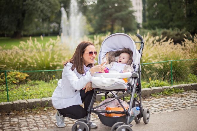 прогулка с младенцем