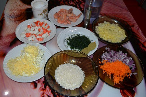 ингредиенты для крем-супа с сыром
