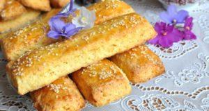 творожное печенье с кунжутом