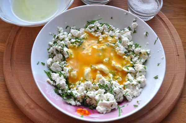 творог зелень яйцо