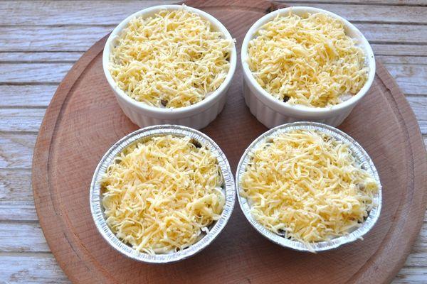 сырный слой на закуске