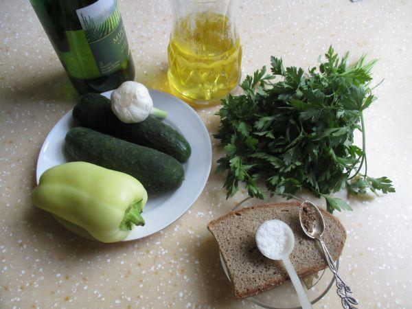 ингредиенты для огуречного супа