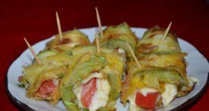 Аппетитные рулеты из кабачков