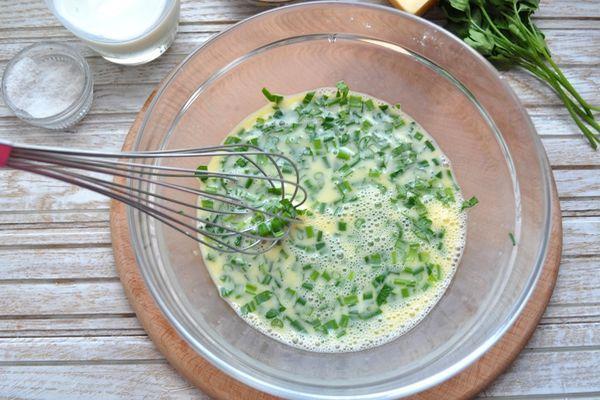 приготовление фриттаты с кабачками