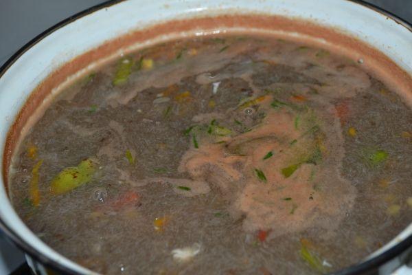 суп с горохом и курицей