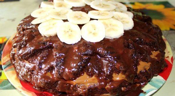 торт прага с бананами