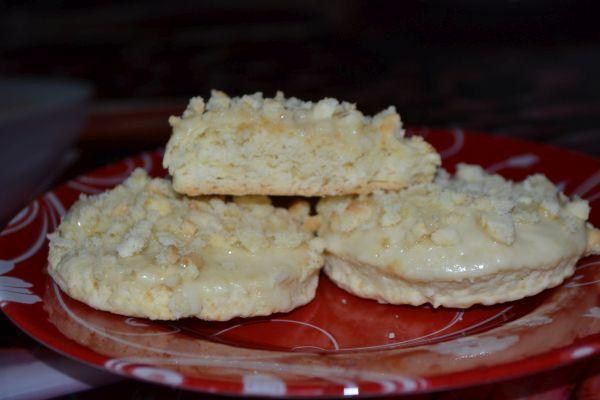 печенье из сметаны с крошкой