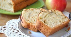 простой кекс с яблоками