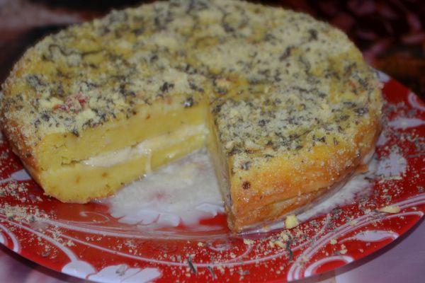 сливочно творожный бисквит