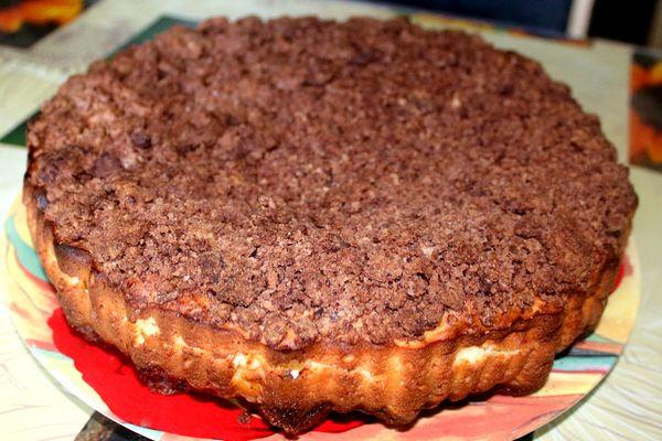 «Торфяной» пирог с творогом