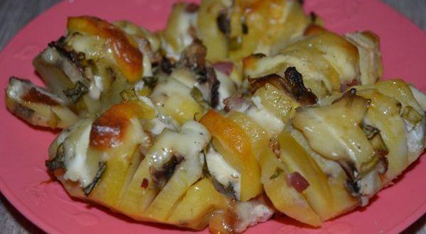 картошка гармошка с беконом