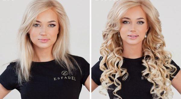 красивое наращивание волос