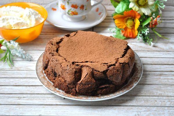 шоколадный тортик без муки