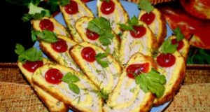 Сырно – яичный рулет с начинкой
