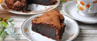 бисквитный шоколадный тортик
