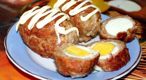 шотландские котлеты с яйцом