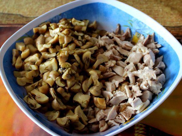 грибы с куриным мясом