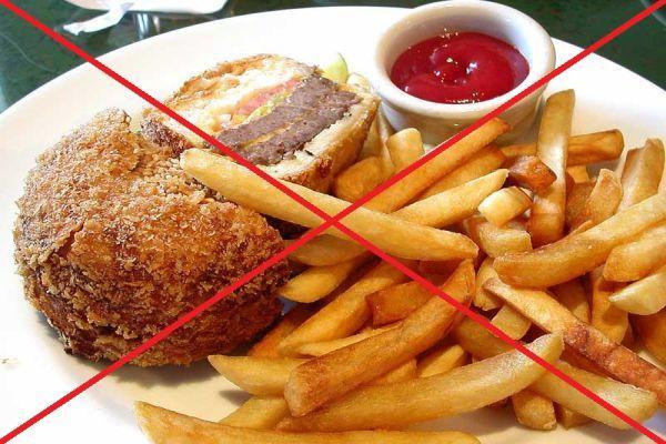 запрет жареных и острых продуктов