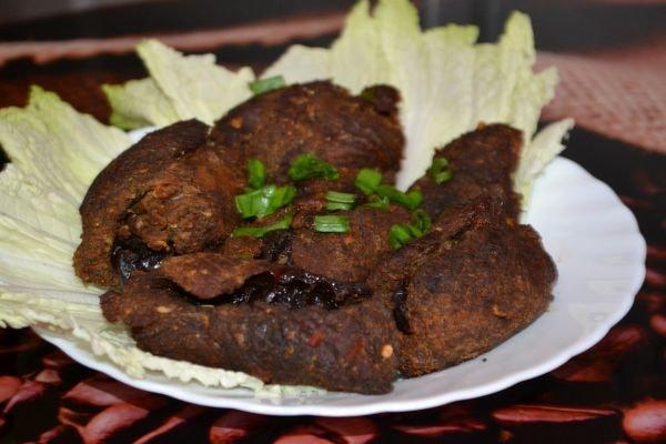 рулет из мяса с черносливом