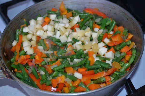 поджарка сыра с овощами для супа-пюре
