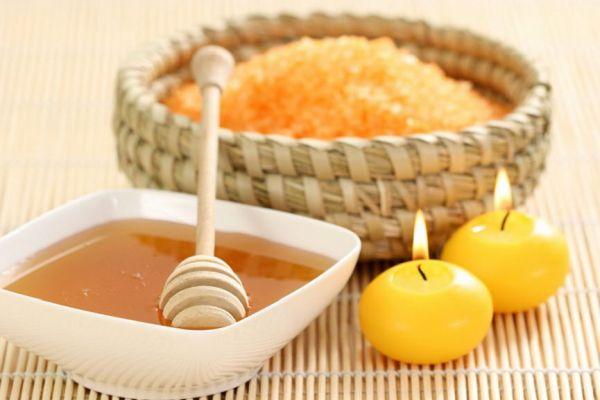 скраб с медом и солью