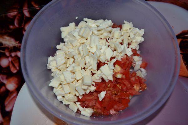 плавленные сырки с помидорами