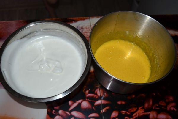посуда с белковой и желтковой массой