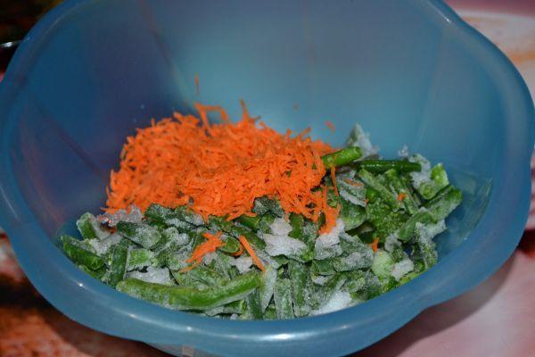 морковь со стручковой фасолью